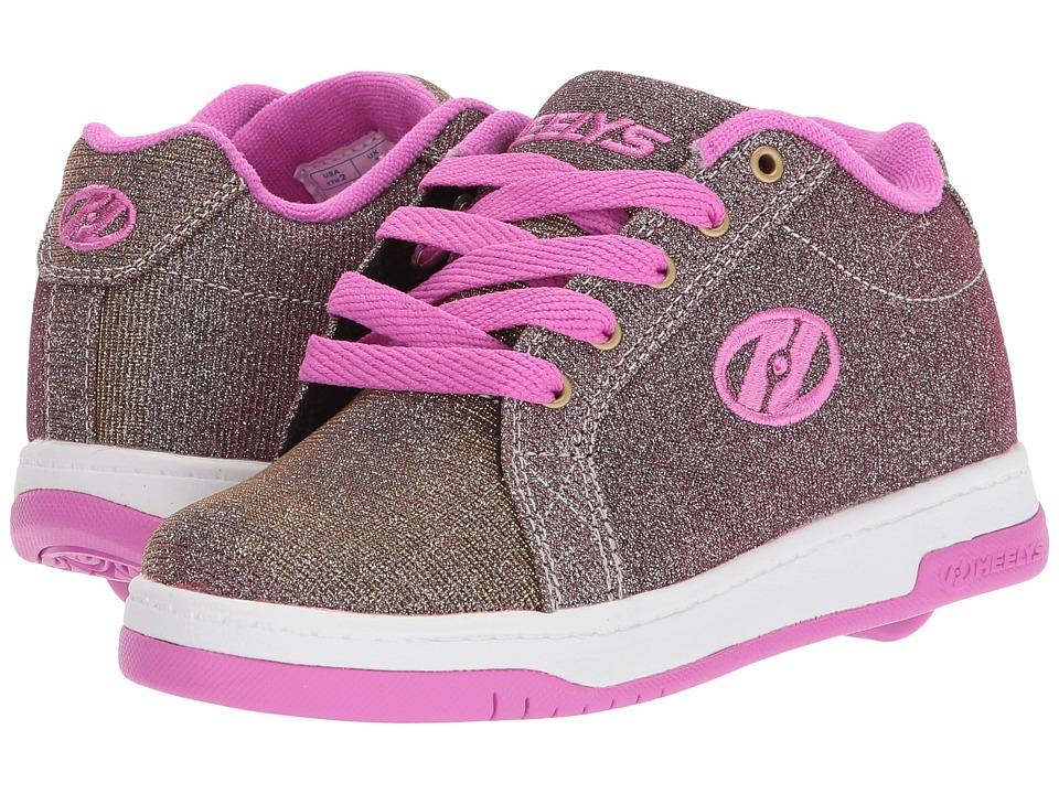 Heelys Split (Little Kid/Big Kid/Adult) (Gold/Berry) Girls Shoes