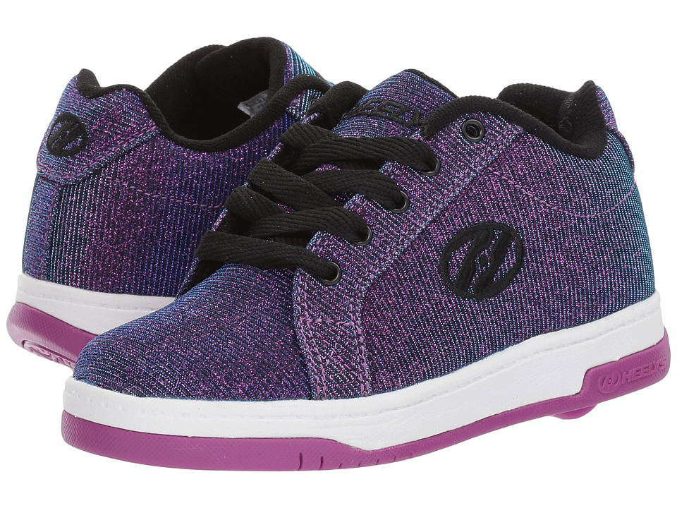 Heelys - Split (Little Kid/Big Kid/Adult) (Purple/Aqua Colorshift) Kids Shoes