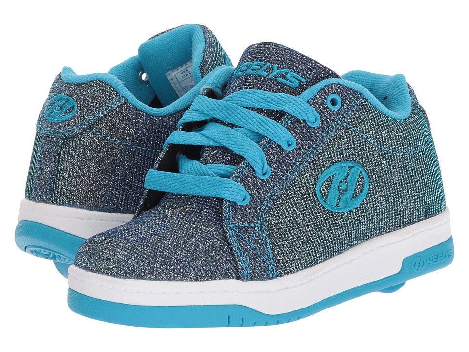 Heelys Split (Little Kid/Big Kid/Adult) (Pewter/Blue Colorshift) Girls Shoes