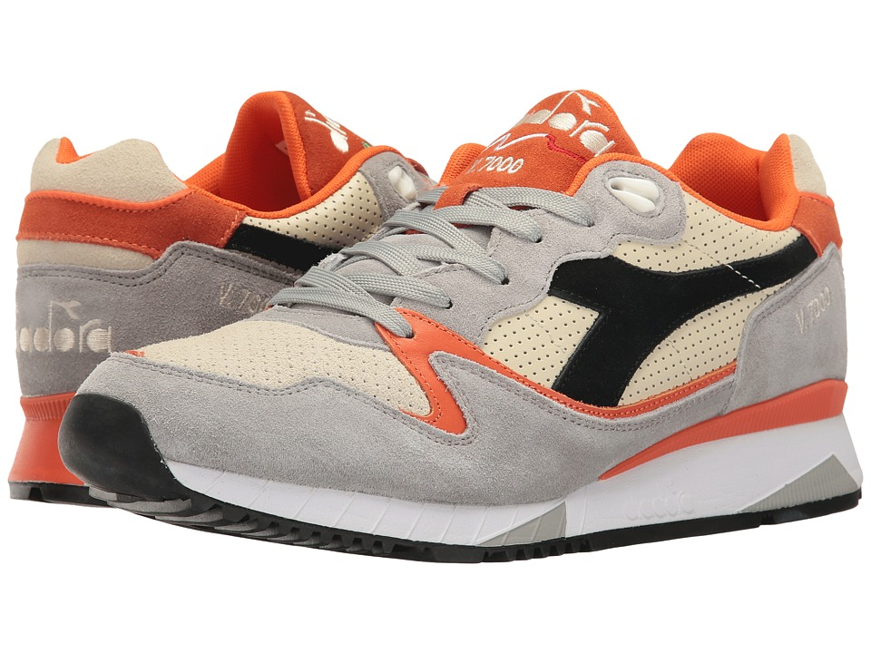 Diadora - V7000 Premium (Paloma Gray/Orange Fluorescent) Men's Shoes