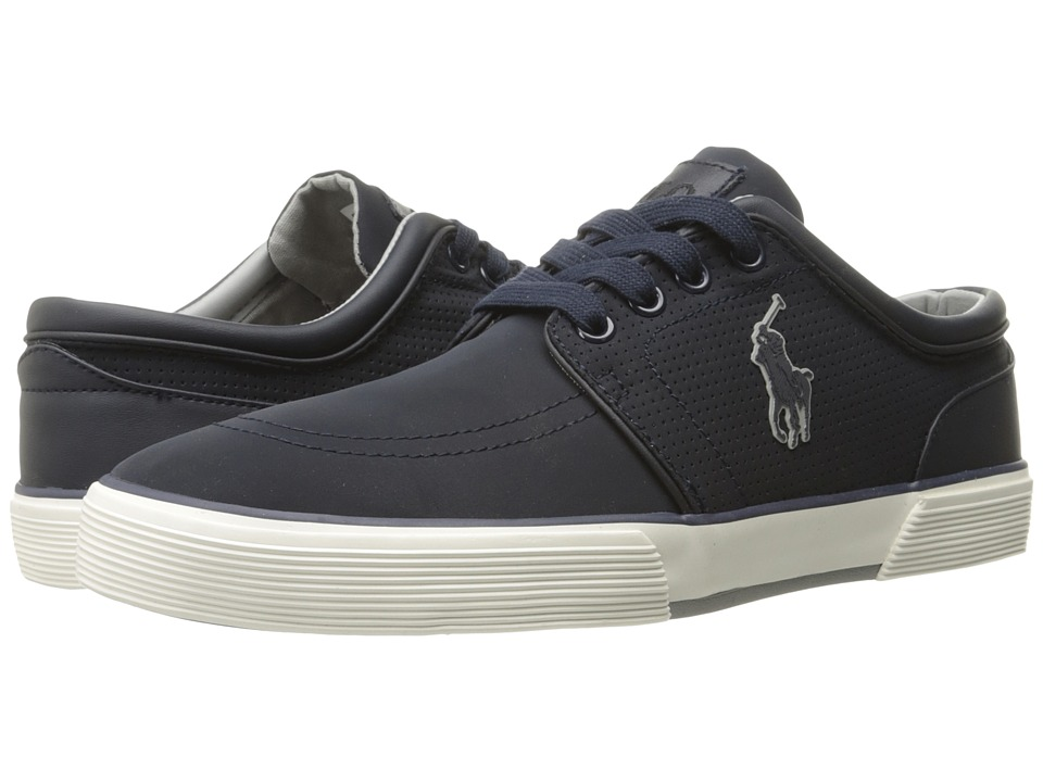 Polo Ralph Lauren Faxon Low (Dark Navy Matte Fabric/Performance Nylon)  Men\u0027s Shoes