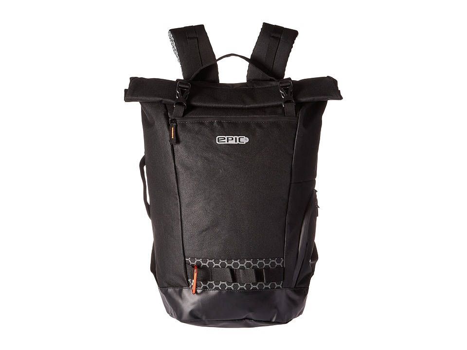 EPIC Travelgear - Adventure LAB Commuter Rolltop Backpack (Black) Backpack Bags
