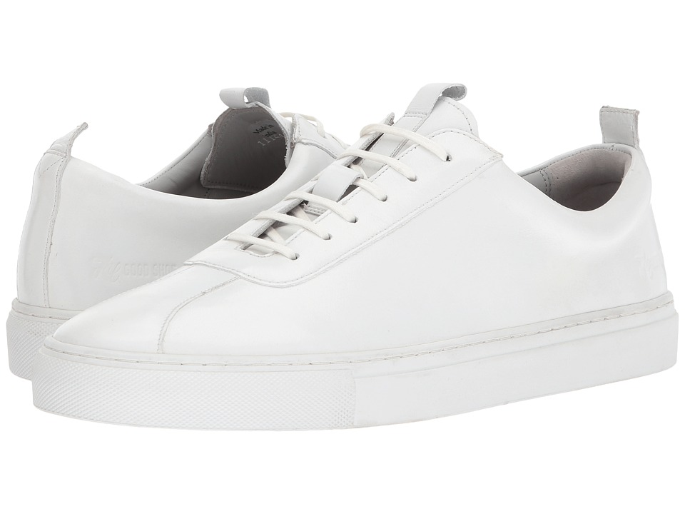 Grenson - Calf Low Top Sneaker (White) Mens Shoes