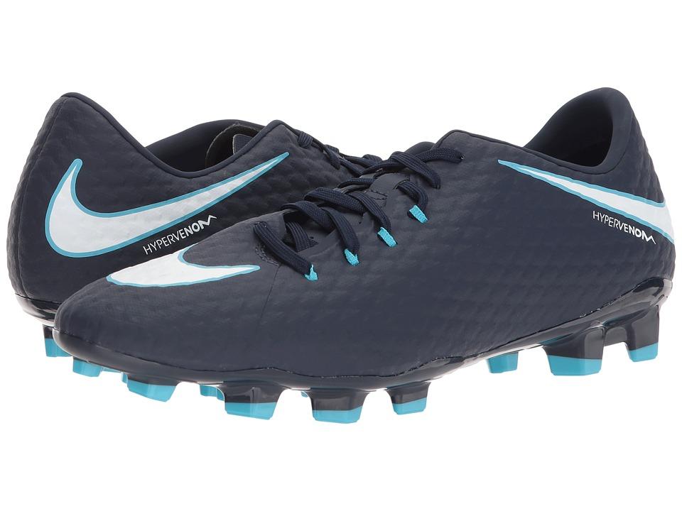 Nike Hypervenom Phelon III FG (Obsidian/White/Gamma Blue/...