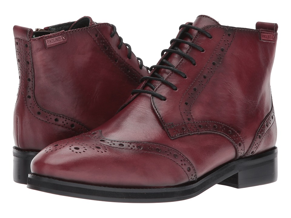 Ladies Victorian Boots & Shoes – Granny boots Pikolinos - Royal W5M-8946 Garnet Womens Shoes $189.95 AT vintagedancer.com