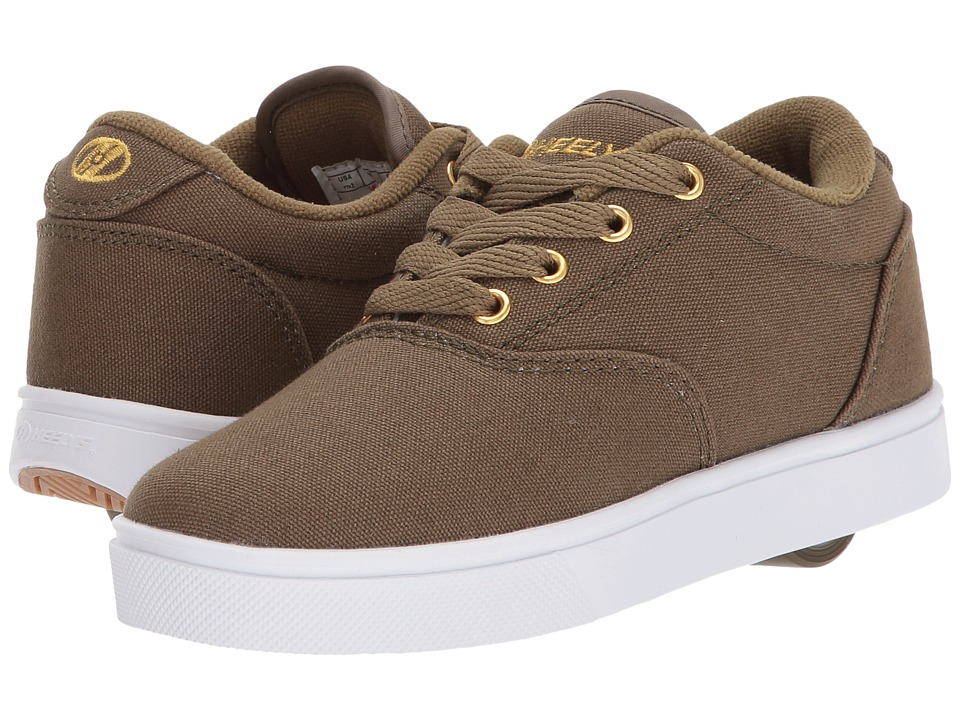 Heelys - Launch (Little Kid/Big Kid/Adult) (Dark Green/Gold) Boys Shoes