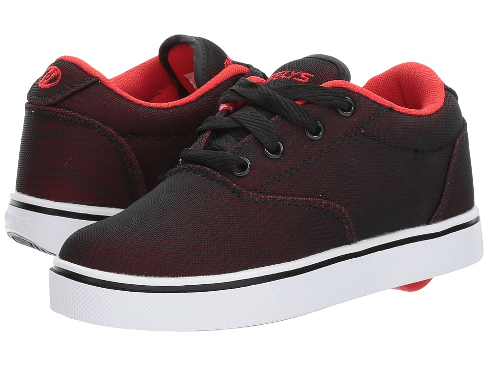 Heelys Launch (Little Kid/Big Kid/Adult) (Black/Red Super Mesh) Boys Shoes