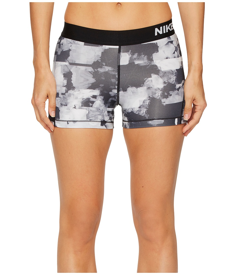 Nike Pro 3 Flower Jam Training Short (Wolf Grey/Black/White) Women
