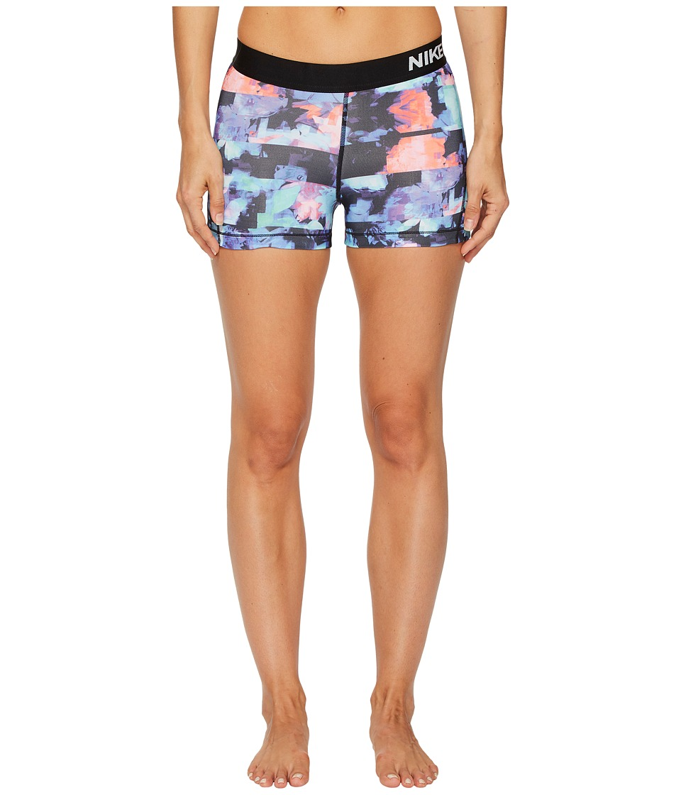Nike Pro 3 Flower Jam Training Short (Hyper Crimson/Black/White) Women