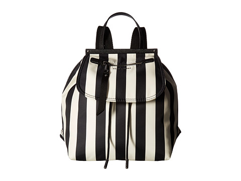 Marc Jacobs Stripes Printed Trooper Backpack - Black Multi