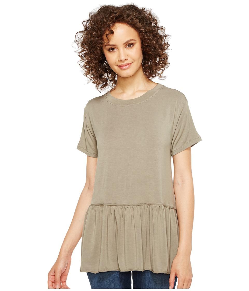 Culture Phit Georgia Short Sleeve Babydoll Top (Olive) Women