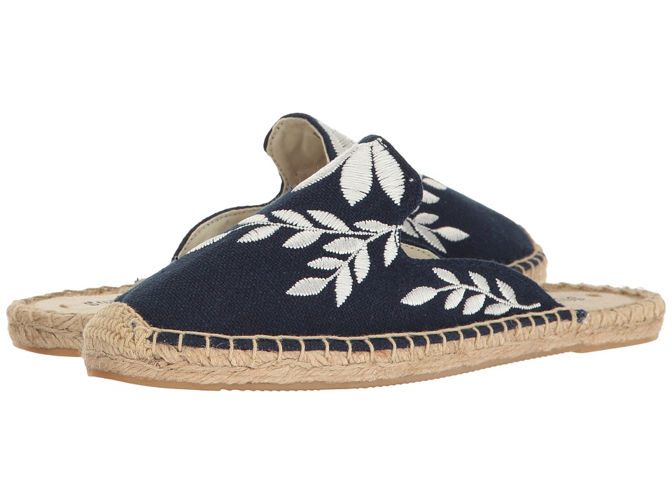 Soludos Embroidered Floral Mule (Midnight/Ivory) Women's Clog/Mule Shoes
