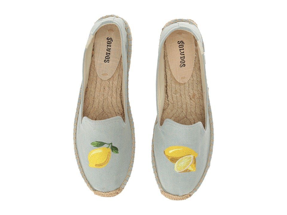 Soludos Lemon Platform (Chambray) Women's Shoes
