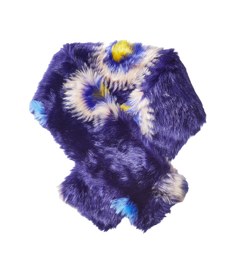 Paul Smith Pow Faux Fur Scarf - Blue