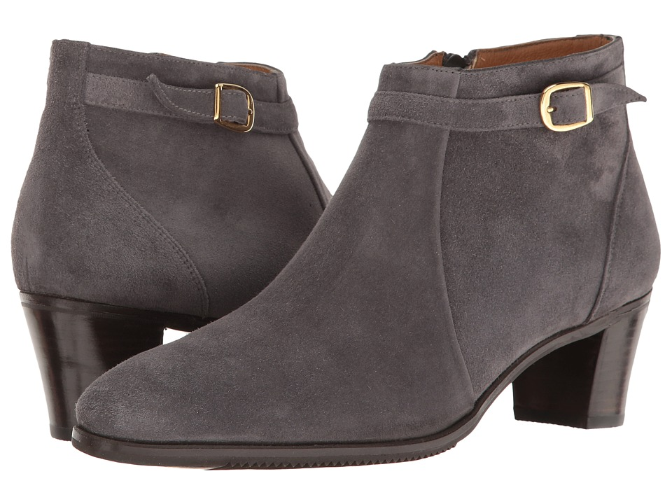 Gravati Ankle Buckle Suede Boot (Grey) Women's Boots