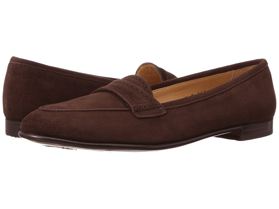 Gravati Perforated Trim Flat (Brown) Women