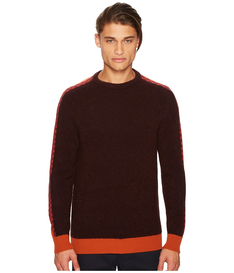 Missoni - Intarsia Sweater (Burgundy) Mens Sweater