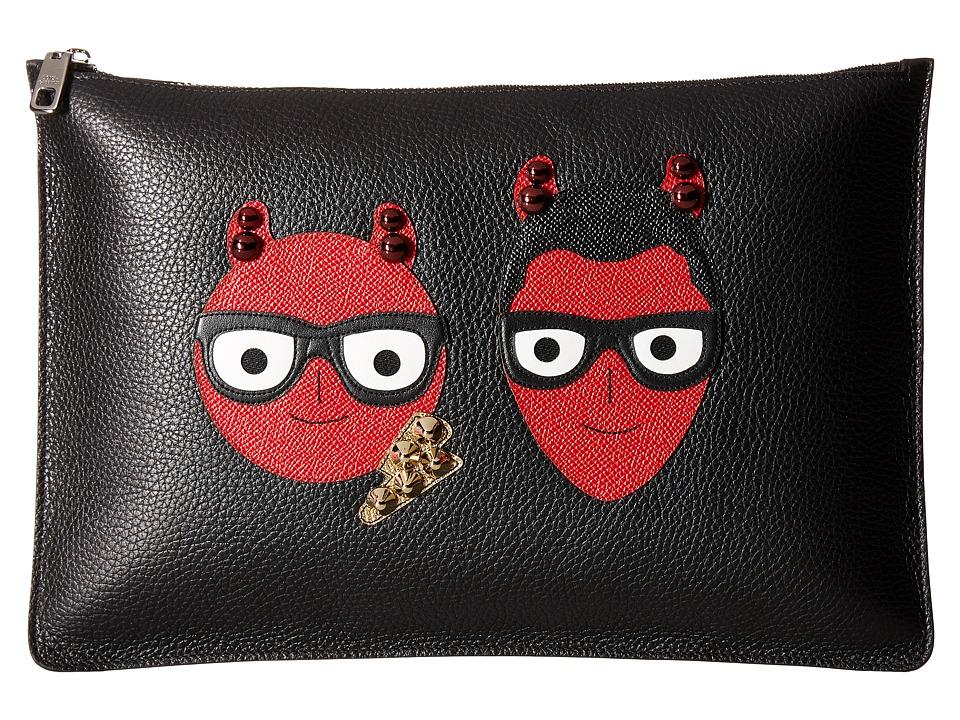 Dolce & Gabbana Devil Portfolio (Black) Wallet Handbags