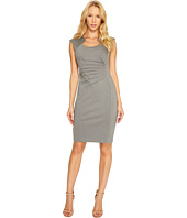 Calvin Klein - Horseshoe Neck Pintuck Detail Sheath Dress