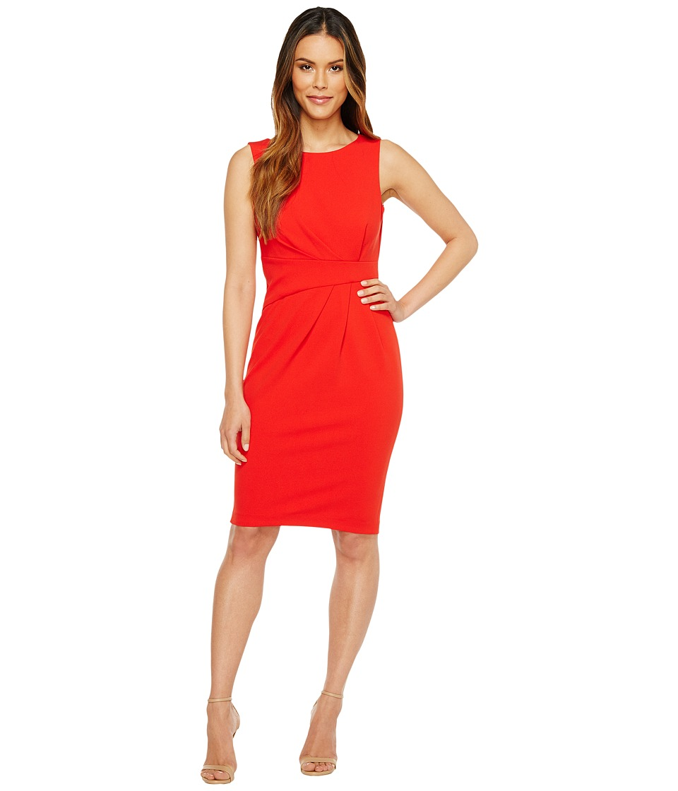 Calvin Klein Ruched Sheath Dress (Fire) Women