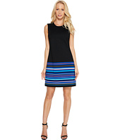 Calvin Klein - Stripe Bottom Pont Sheath Dress