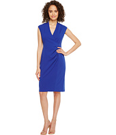 Calvin Klein - V-Neck Ruched Sheath Dress