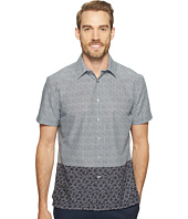 Perry Ellis - Dip Hem Color Block Poplin Shirt