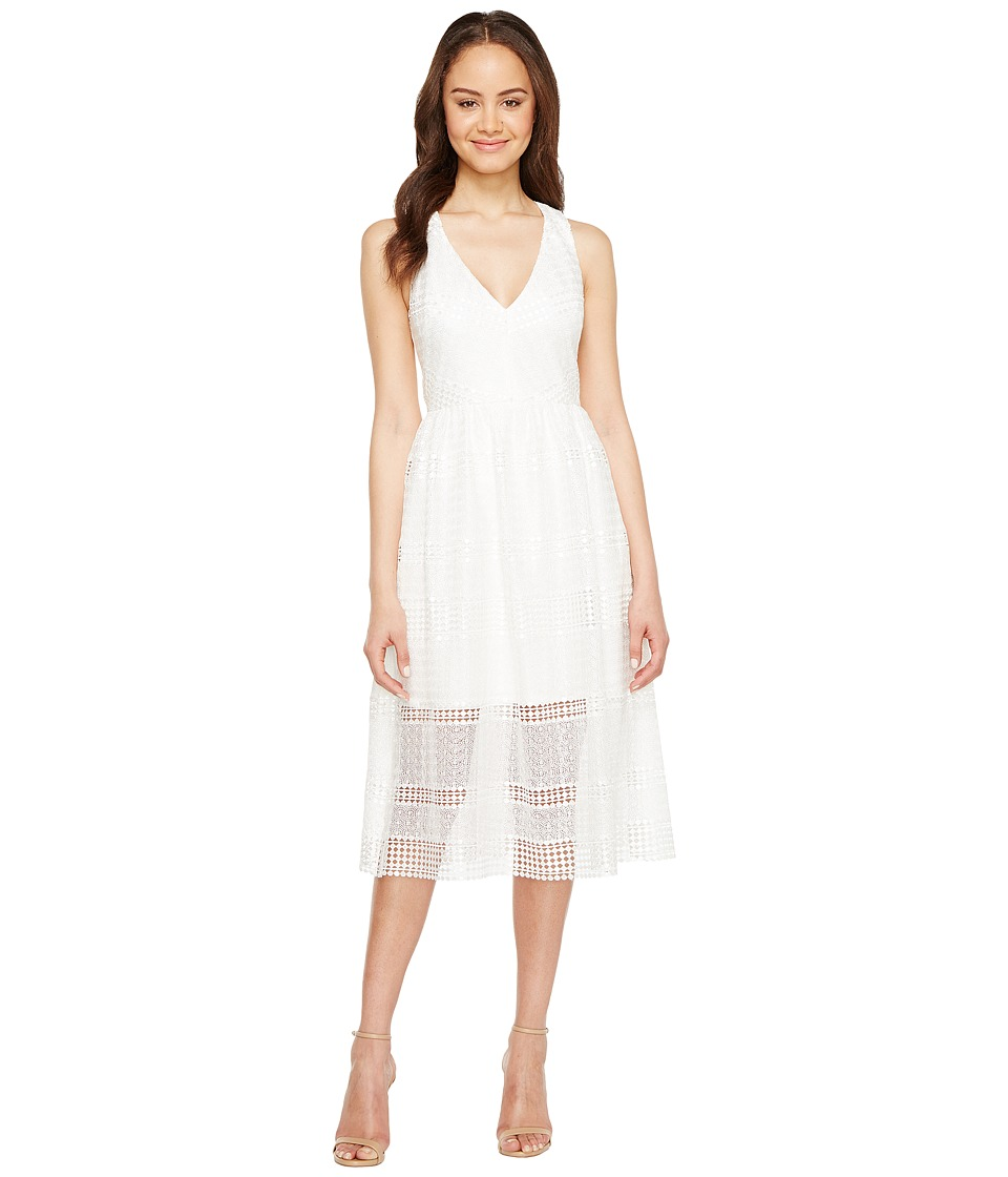 Adrianna Papell - Lace Tea Length A-Line Dress