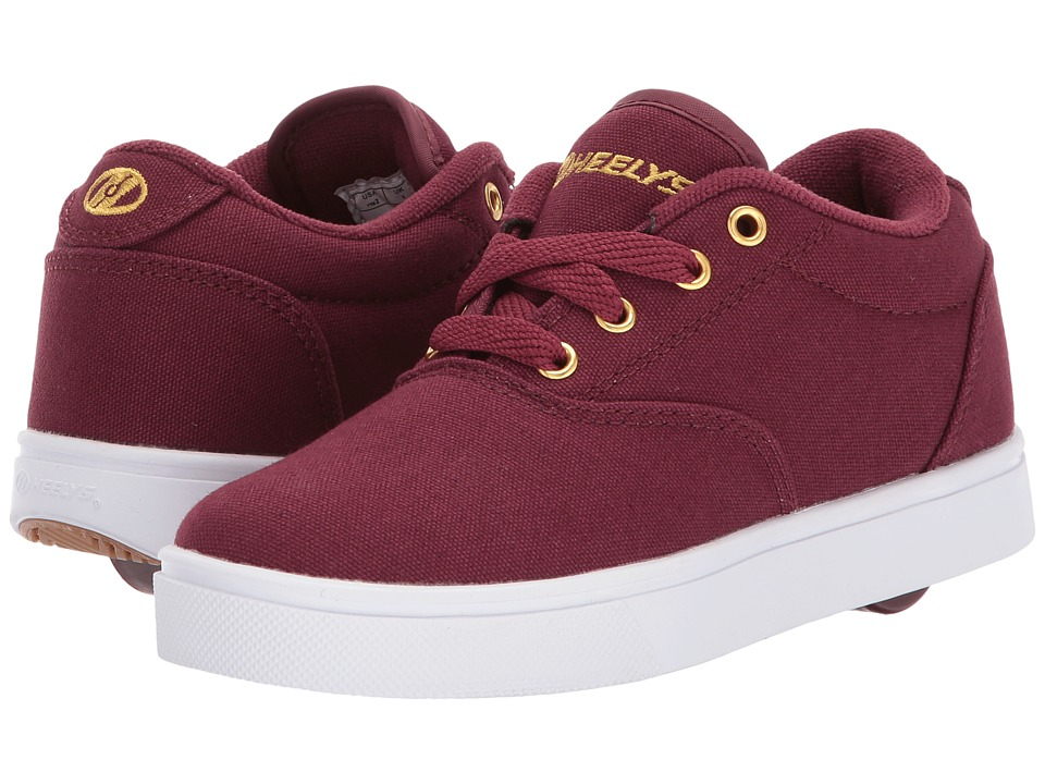 Heelys Launch (Little Kid/Big Kid/Adult) (Burgundy/Gold) Kids Shoes