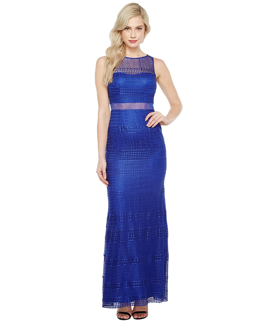 Adrianna Papell - Lace Modified Mermaid Gown (Neptune) Women's Dress