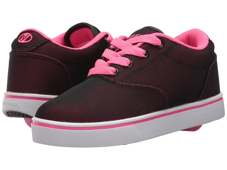 Heelys - Launch (Little Kid/Big Kid/Adult) (Black/Hot Pink Super Mesh) Kids Shoes