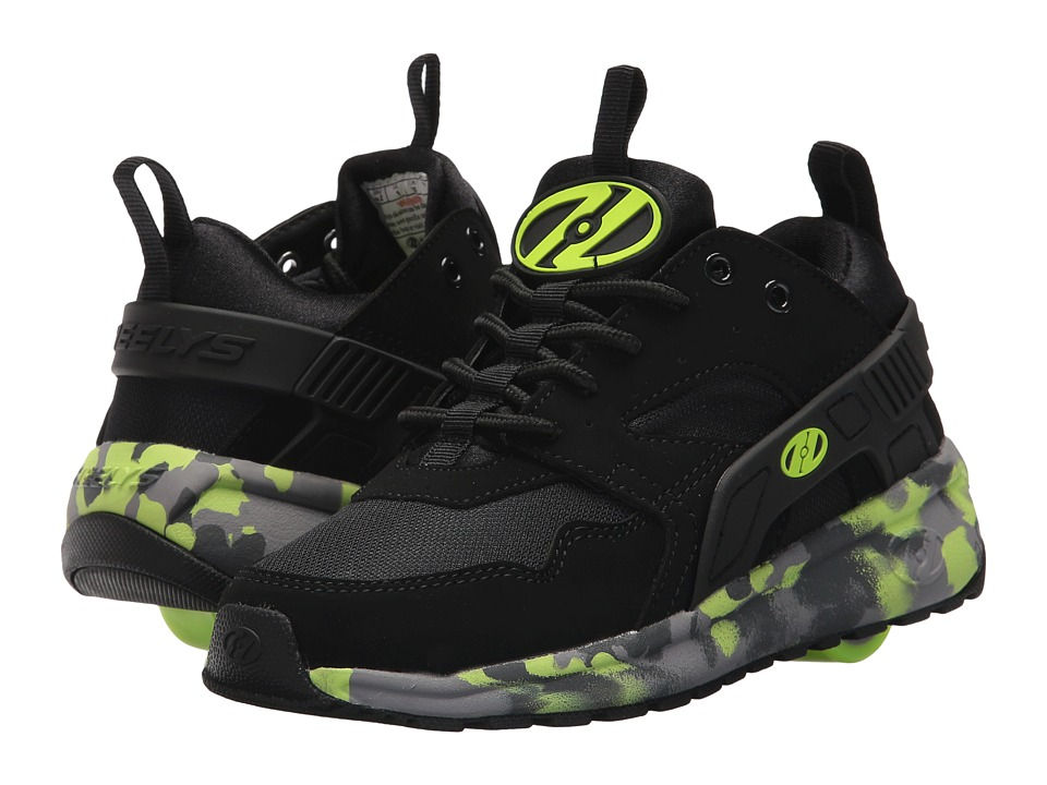 Heelys Force (Little Kid/Big Kid/Adult) (Black/Bright Yellow Confetti) Boys Shoes