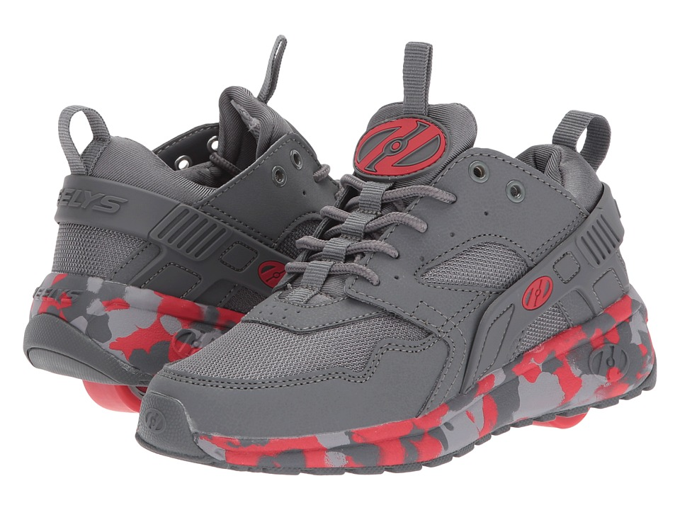 Heelys Force (Little Kid/Big Kid/Adult) (Charcoal/Red Confetti) Boys Shoes
