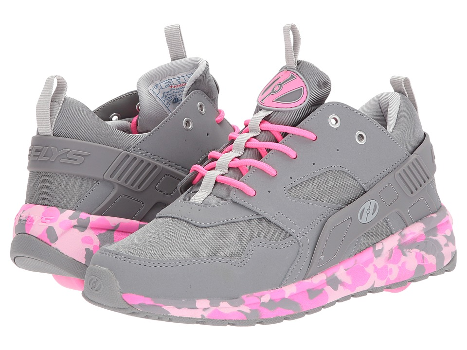 Heelys Force (Little Kid/Big Kid/Adult) (Grey/Pink Confetti) Girls Shoes