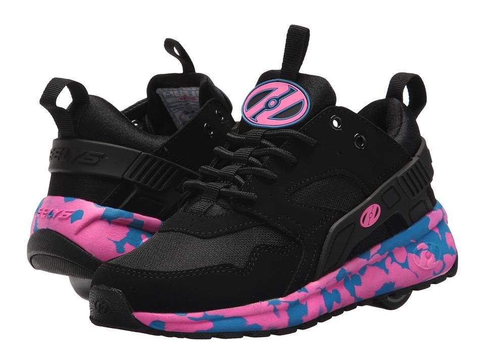 Heelys Force (Little Kid/Big Kid/Adult) (Black/Pink/Blue Confetti) Girls Shoes