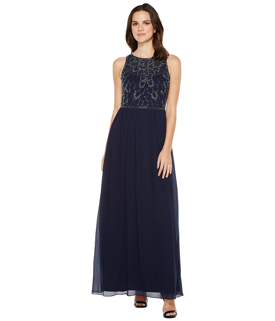 Adrianna Papell Adrianna Papell - Sleeveless Beaded Georgette Gown
