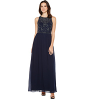 Adrianna Papell - Sleeveless Beaded Georgette Gown