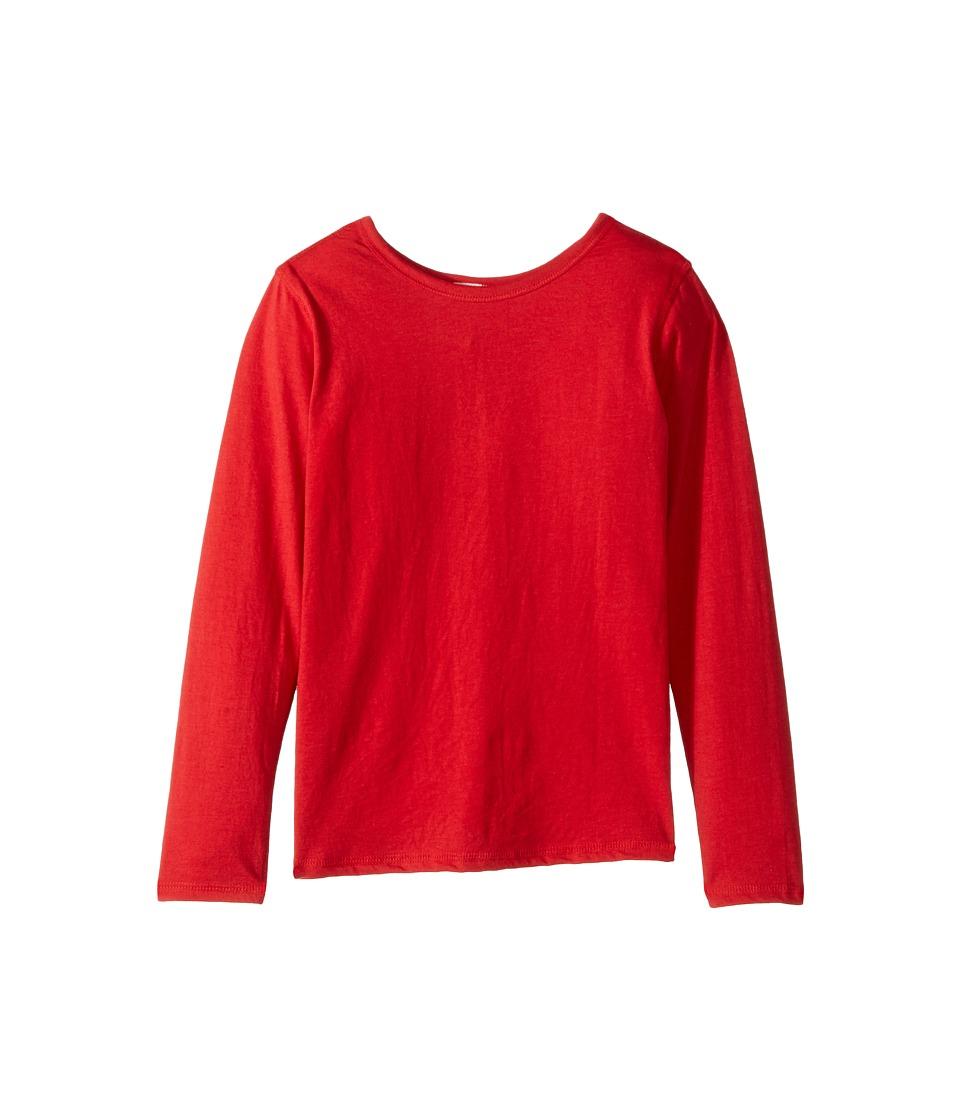 4Ward Clothing - Long Sleeve Scoop Jersey Top - Reversible Front/Back (Little Kids/Big Kids) (Red) Girls T Shirt