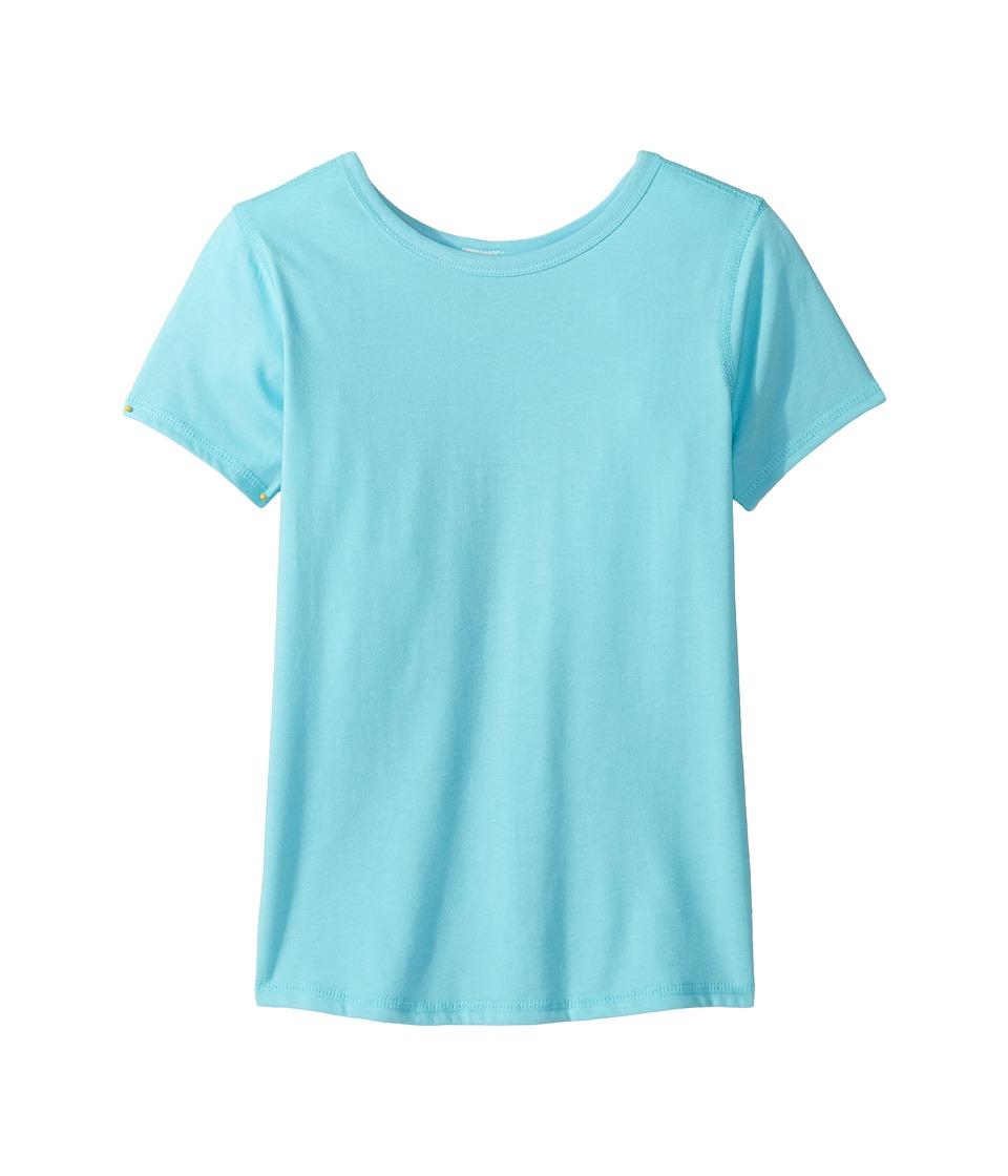 4Ward Clothing - Short Sleeve Scoop Jersey Top - Reversible Front/Back (Little Kids/Big Kids) (Sky) Girls T Shirt