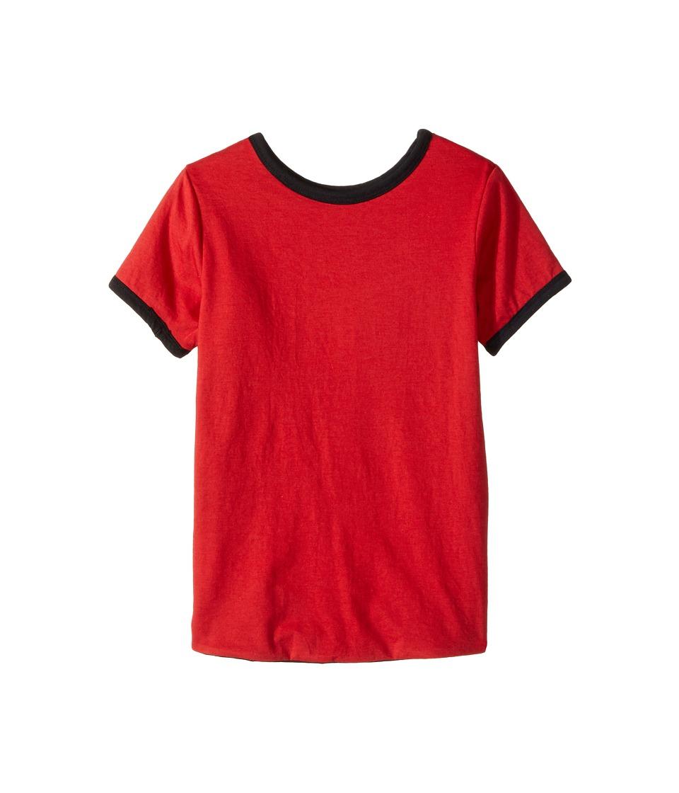 4Ward Clothing - Four-Way Reversible Short Sleeve Scoop Jersey Top (Little Kids/Big Kids) (Black/Red) Girls T Shirt