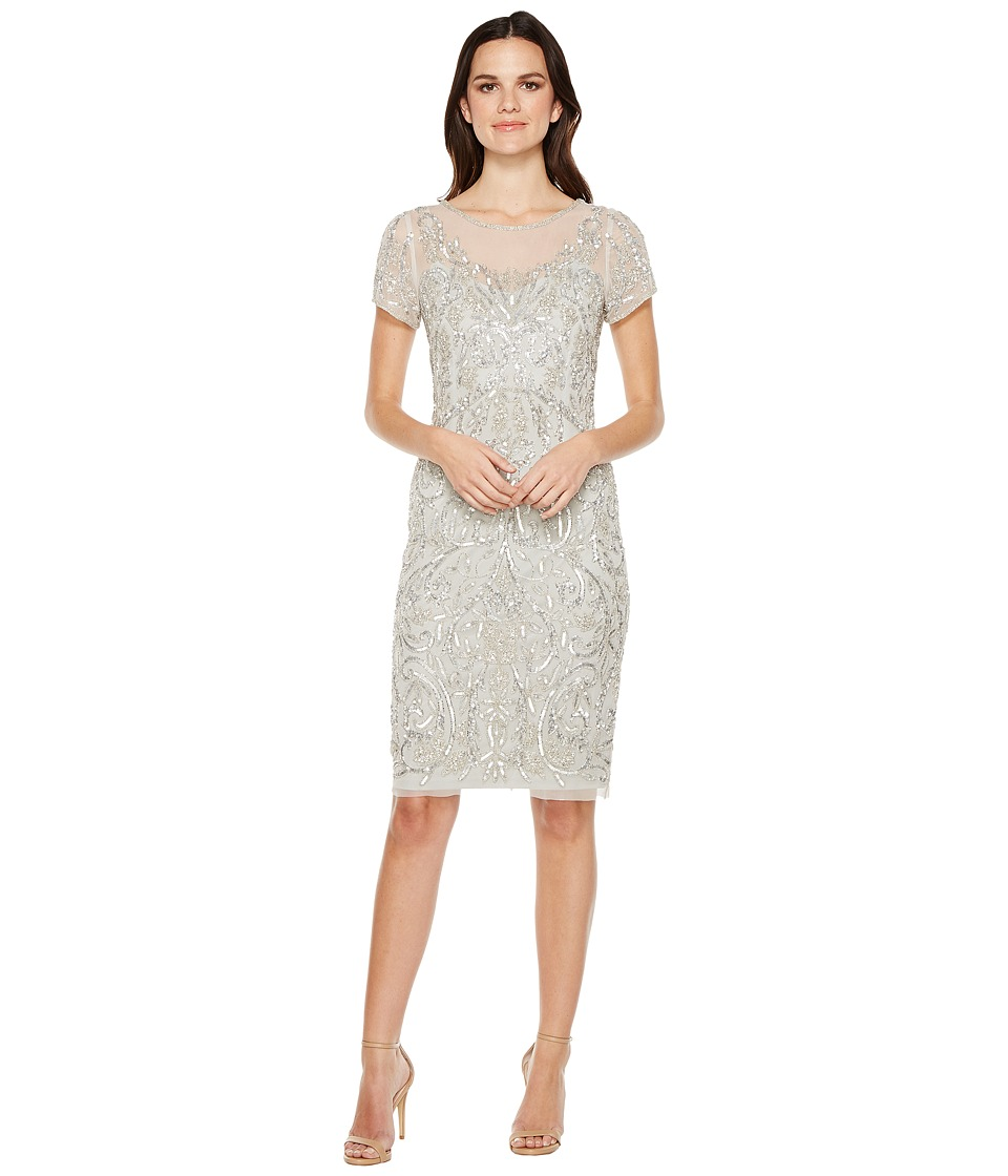 Adrianna Papell - T-Shirt Pegged Dress with Beads