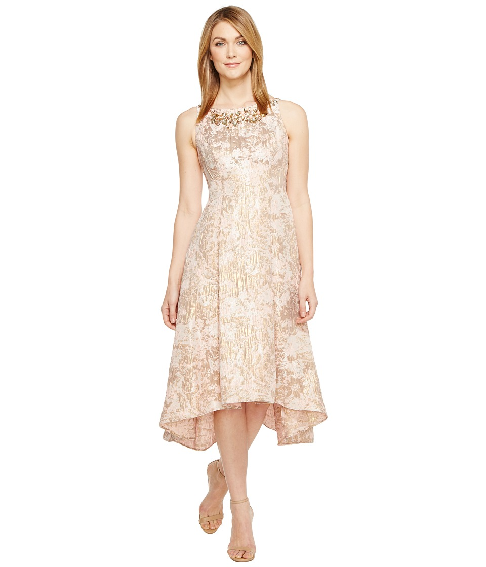 Adrianna Papell - Metallic Jacquard Fit Flare Dress