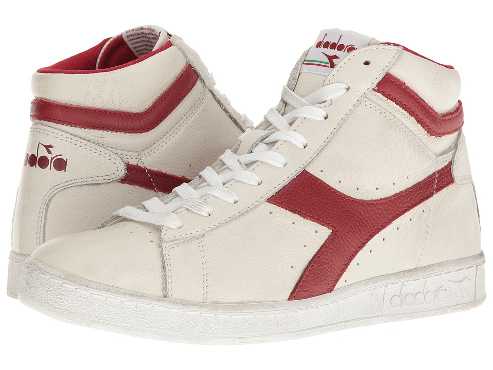 Diadora Game L High Waxed (White/Red Pepper) Athletic Shoes