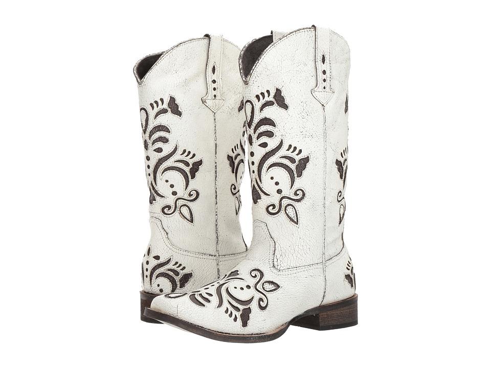 Roper Belle (White) Cowboy Boots