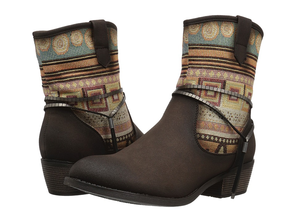 Roper Taos (Brown Faux Leather) Cowboy Boots