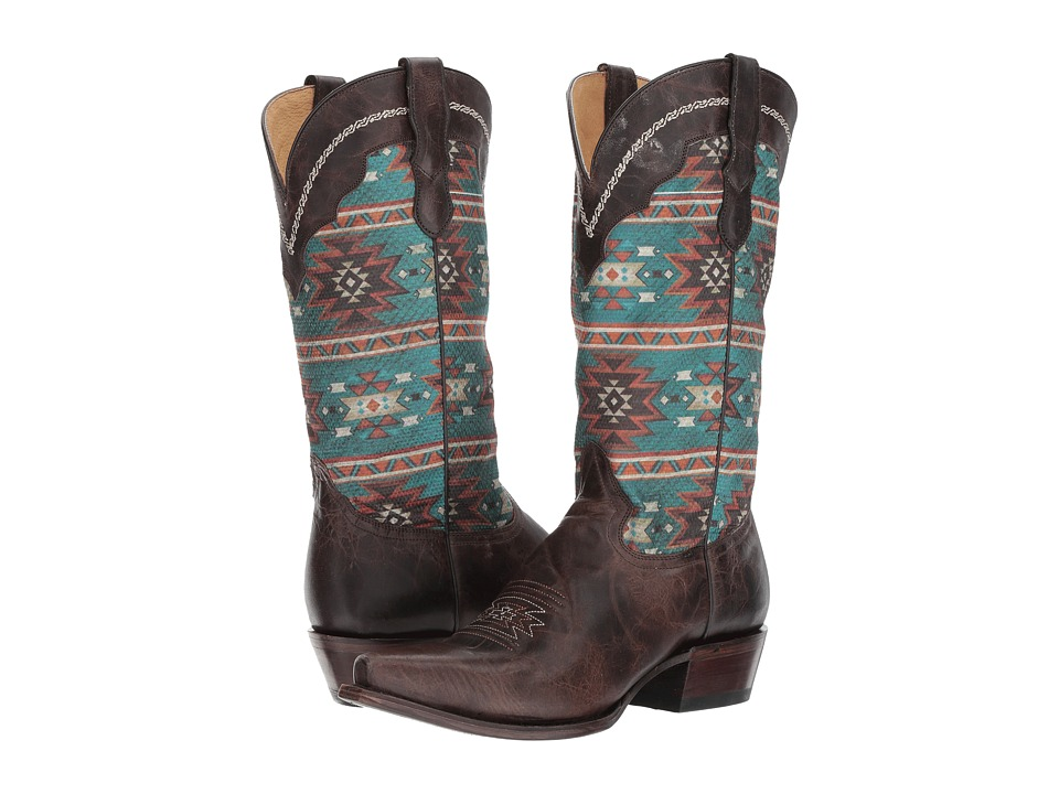 Roper Chelly (Brown Leather) Cowboy Boots