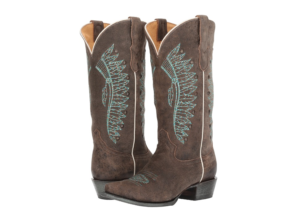 Roper Chiefs (Brown Leather) Cowboy Boots