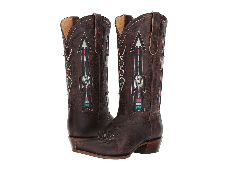 Roper Arrows (Brown Leather) Cowboy Boots