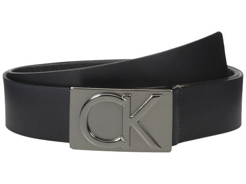 Calvin Klein 38mm Belt w/ CK Logo Plaque Buckle