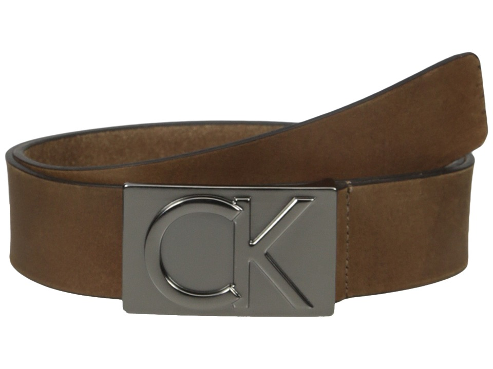 Calvin Klein Calvin Klein - 38mm Belt w/ CK Logo Plaque Buckle